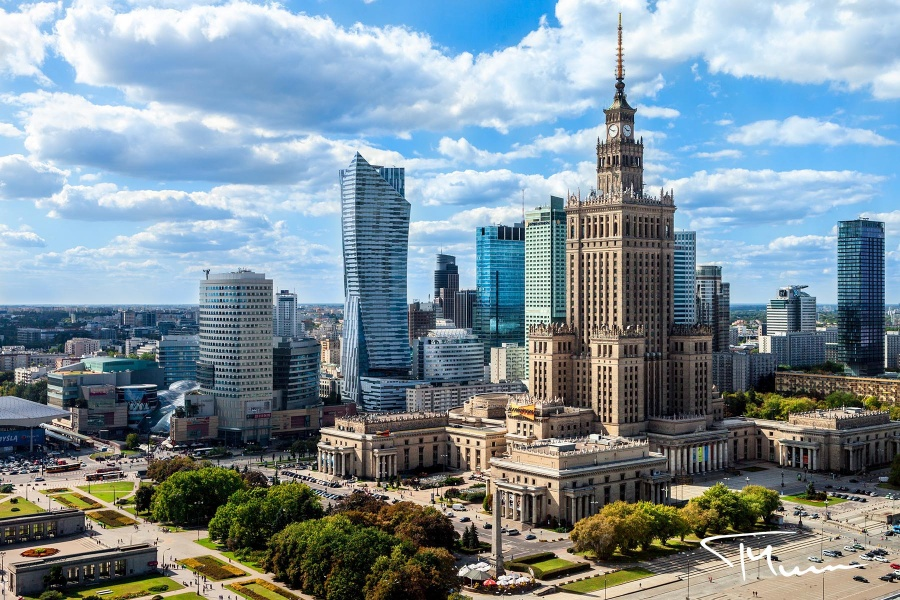 fotografia architektury - panorama Warszawa