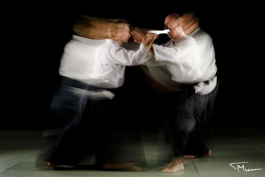 sportowa sesja fotograficzna - aikido, sztuki walki